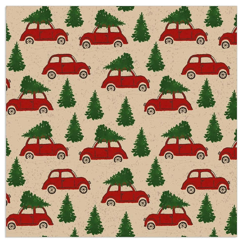 Christmas Napkins - Christmas Tree on Car