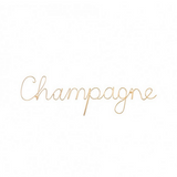 Champagne Wire Word - Gold