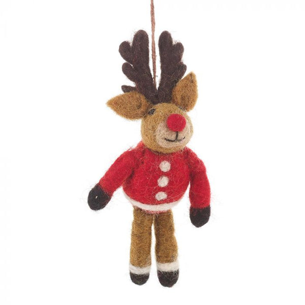 Christmas Rudolph Felt Decoration