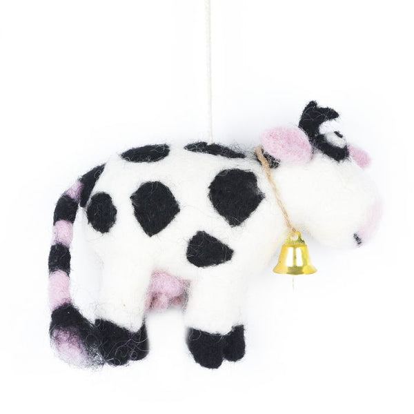Daisy the Cow Felt Decoration