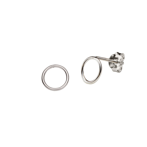 JUULRY Silver Open Circle Studs
