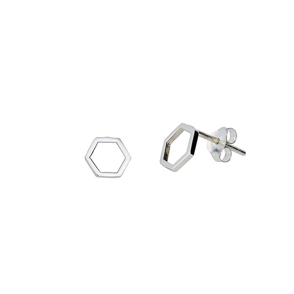 JUULRY Silver Hexagon Studs