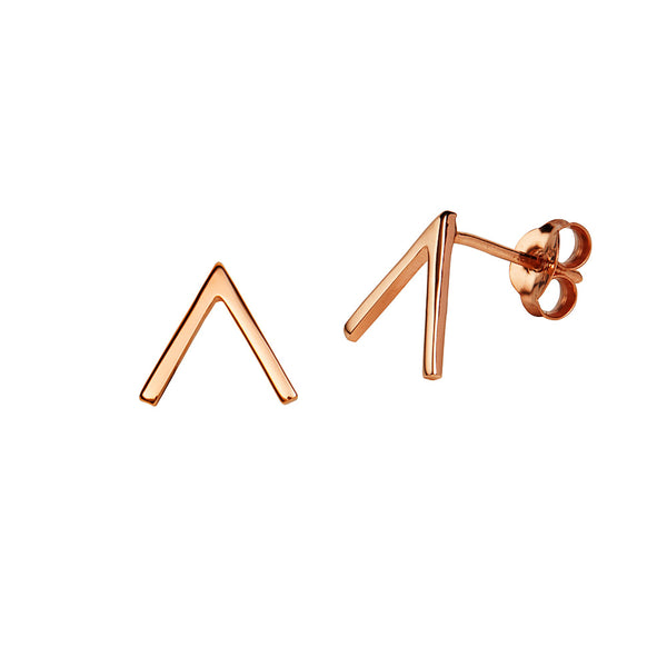 JUULRY Rose Gold Arrow Head Studs