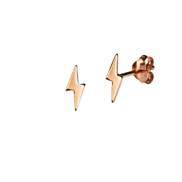 JUULRY Rose Gold Lightning Bolt Studs
