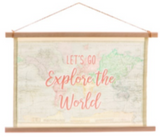 World Map Wall Hanger