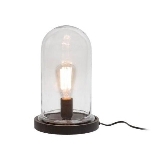 Glass Dome Bell Jar Standing Desk Light