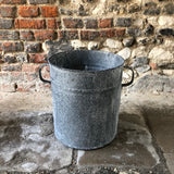 Double Handle Galvanised Planter Medium
