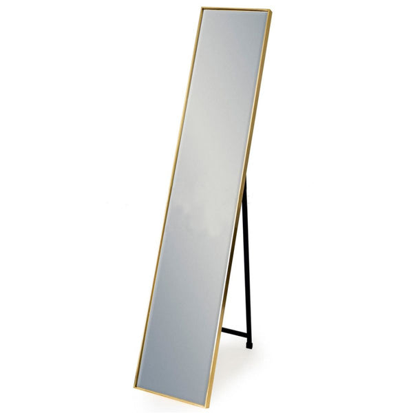 Long Gold Cheval Mirror - Square edge