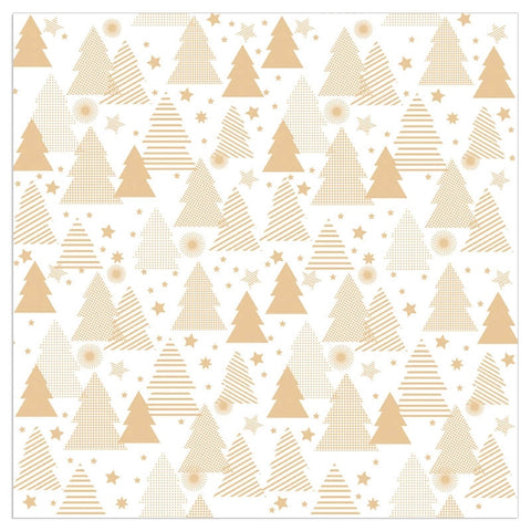 Christmas Napkins - Gold Trees