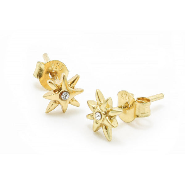 JUULRY Gold Stars with Zirkonia Studs
