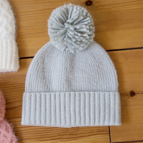 Grey Bobble Hat