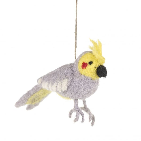 Handmade Felt Cockatoo Decoration