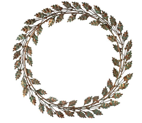 Holly Wreath Vintage Leaves