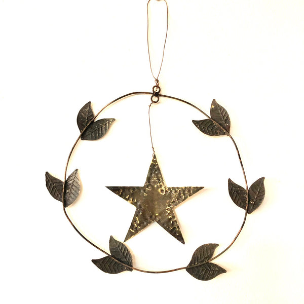 Punched Metal Star Wreath