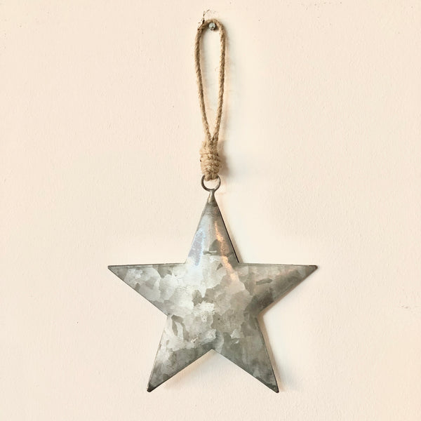 Silver Metal Star Decoration