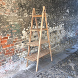 Wooden Ladder Shelf Unit