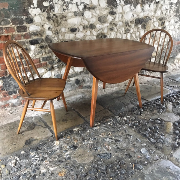 Original Ercol Drop Leaf Table & 2 Chairs