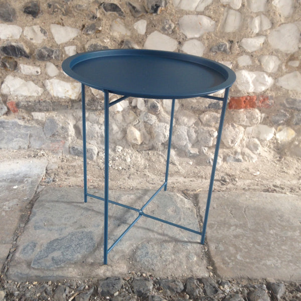 Bistro Tray Table, Teal