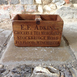 E F Adkins Wooden Box - Small