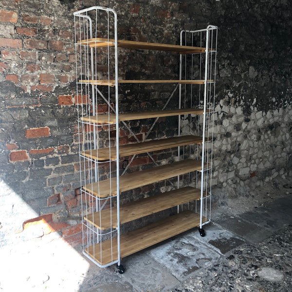 Large White Industrial Shelving Unit