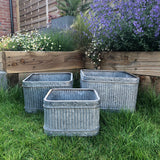 Square Galvanised Tubs