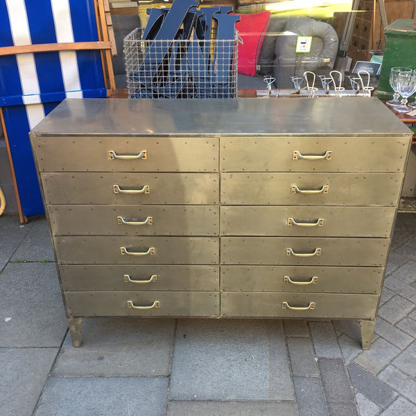 Large Industrial Chest of Drawers