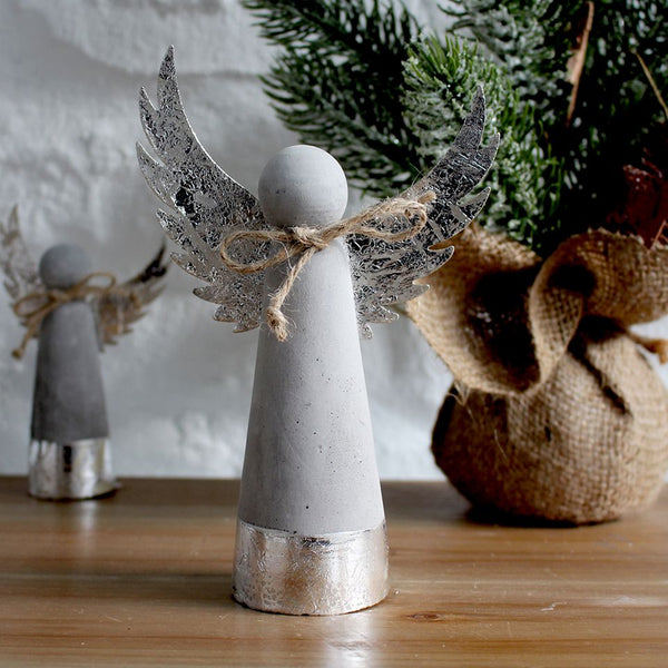 Large Cement Xmas Angel Decoration