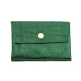 Leather Coin Holder - Metallic Green