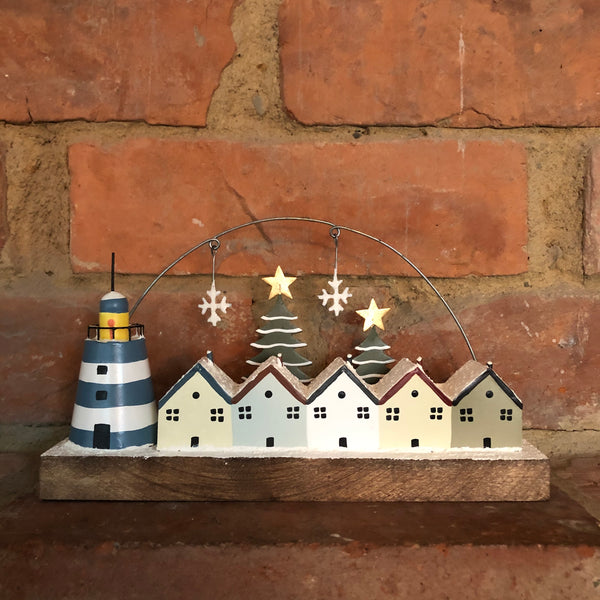 Lighthouse Christmas Decoration on Stand