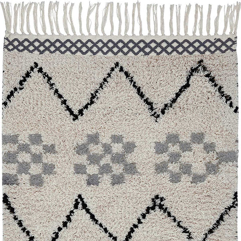 Marrakech Cotton Shaggy Rug - 70 x 140