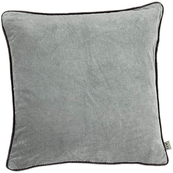 Metal Grey LIV Interior Velvet Cushion (60cm)
