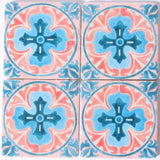 Moroccan Coaster Pink & Blue