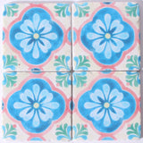 Moroccan Coaster Pink Blue and Green