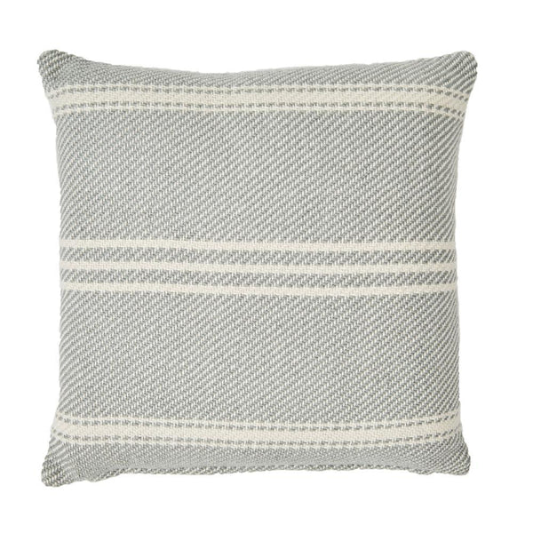 Indoor/Outdoor Oxford Stripe Dove Grey Cushion
