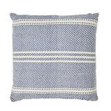 Indoor/Outdoor Oxford Stripe Navy Cushion