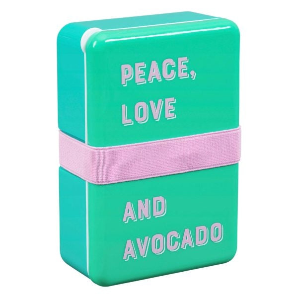 Peace Love and Avocado Lunch Box