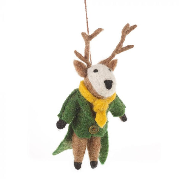 Percy The Stag Felt Decoration