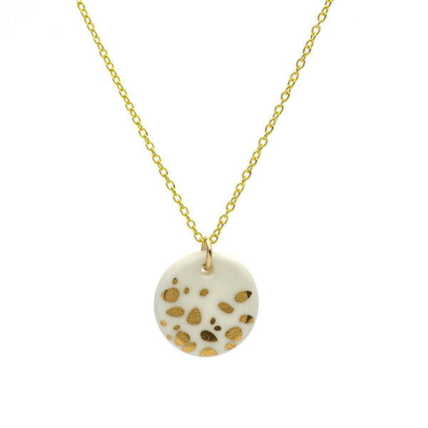 Porcelain Gold Haze Necklace