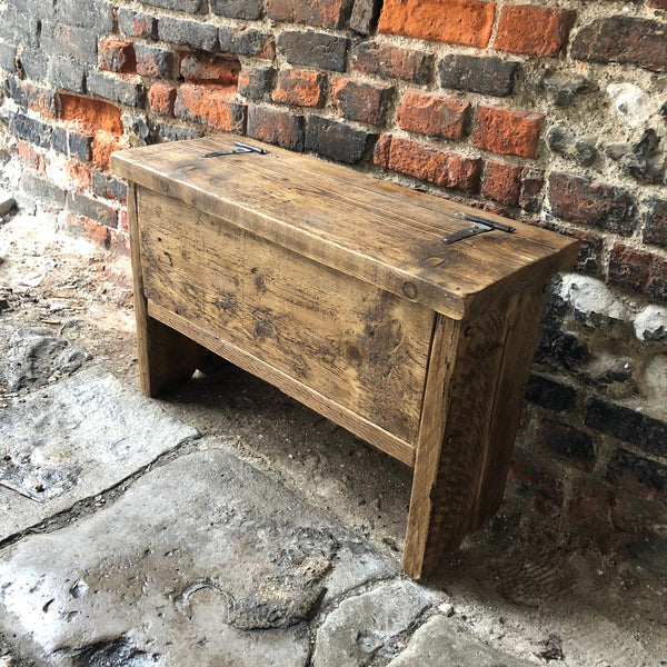 Reclaimed Storage Bench - Small