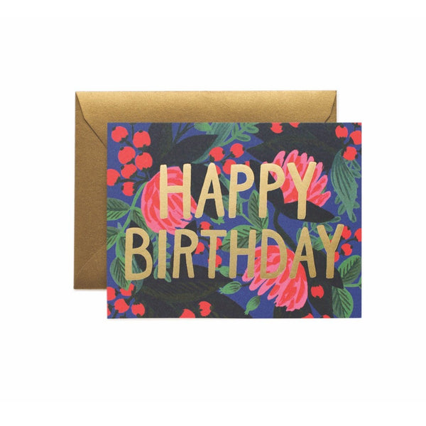 Floral Foil Birthday Card - Rifle Paper Co