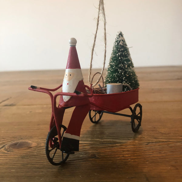 Santa with Watering Can Decoration