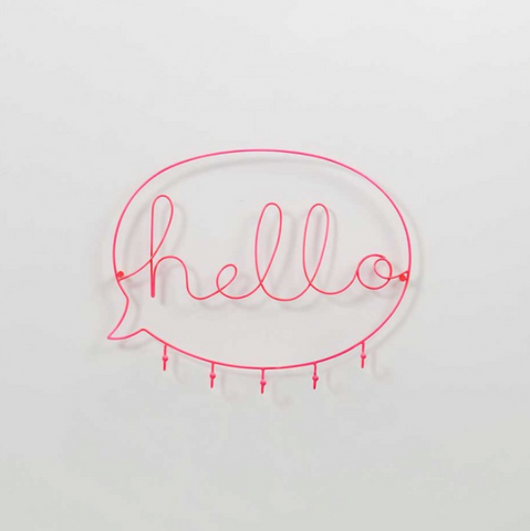 Wire Word Hooks - Hello