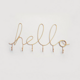 Wire Word Hooks - Hello Gold