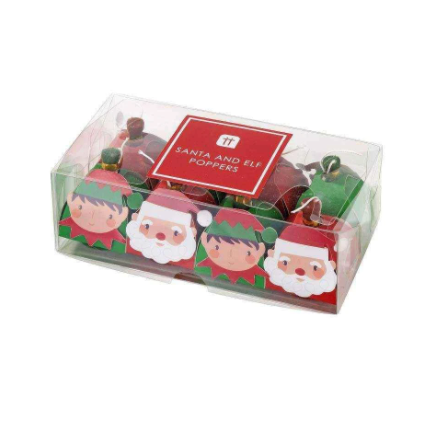 Santa and Elf Party Poppers