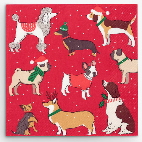 Christmas Dogs Napkins - 20
