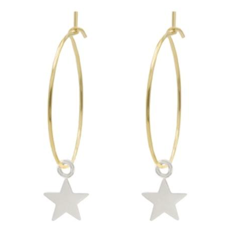 Lavi & Belle Gold Hoops & Silver Star