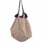 Beach Bag Shopper, Fish & Coral Print