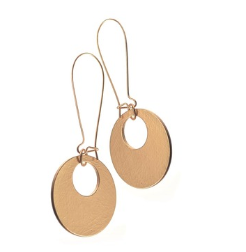 Swinging Sixties Earrings, Matt Gold