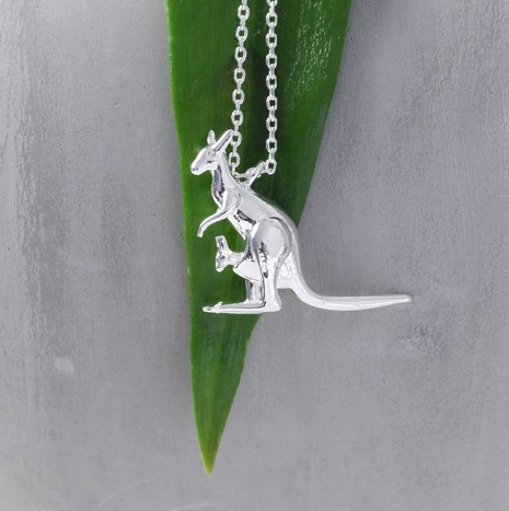 Silver Kangaroo Necklace