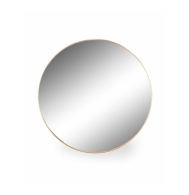 Medium Round Gold Wall Mirror